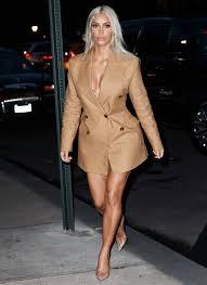 kim kardashian attends vivenne westwood party in blazer instyle com