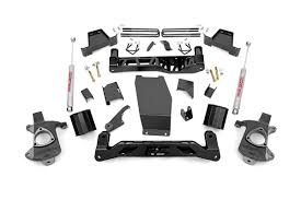 lifted white gmc 6in suspension lift kit for 14 18 4wd chevy silverado gmc sierra