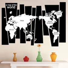 World Map Wall Sticker by Online Buy Wholesale World Map Black Background Wall From China