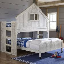 lake house twin over full bunk bed u0026 reviews birch lane