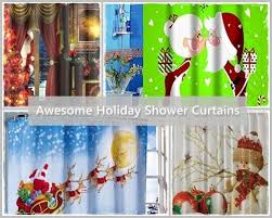 Snowflake Curtains Christmas Bathroom Christmas Decor Waterproof Christmas Decor Bathroom
