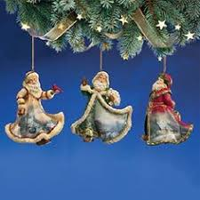 kinkade sleigh bells set 5 tree ornaments set