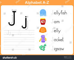Free Alphabet Tracing Worksheets Alphabet Tracing Worksheet Writing Az Stock Vector 214050400