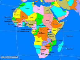 Burundi Africa Map by Africa African Continent Political Map A Learning Family