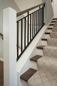 Iron Banisters And Railings Best 25 Modern Stair Railing Ideas On Pinterest Modern Railing