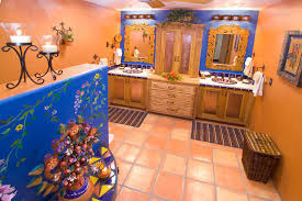 mexican bathroom ideas bathroom bold mexican style mediterranean bathroom