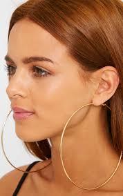 big gold hoop earrings gold large hoop earrings thumbnail 2 earrings