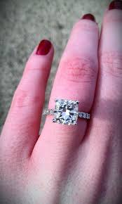 2 carat cushion cut engagement ring 24 most loved cushion cut engagement rings cushion cut