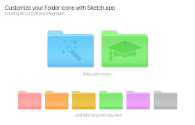 customize your mac folder icons with sketch app by alexkaessner on