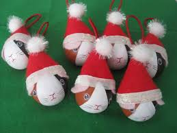 easy guinea pig tree ornaments wooden craft balls or
