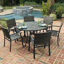 slate dining table set table top stone top patio table home styles harbor 7 piece slate