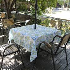 Tablecloth For Patio Table by Amazon Com Eforcurtain Square 60inch Umbrella Outdoor Tablecloth