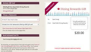 dining gift cards opentable rewards swaps paper certificates for gift cards