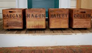 personalized wooden crate rolling crate medium crate entry