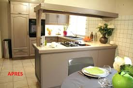 cuisine en chene repeinte peinture meuble cuisine chene racnovcuisine syntilor comment