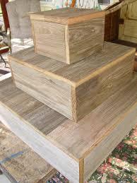 3 tier wood cake stand rustic wedding cupcake box plate barn wood