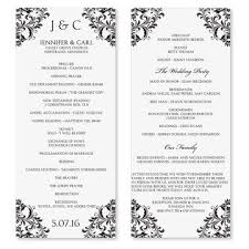 wedding programs template free free one page wedding program templates for microsoft word gse