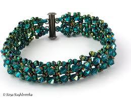 beading bracelet crystal images Right angle weave the art of rose rushbrooke jpg