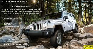 jeep wrangler lineup anything on wheels jeep makes its debut in india lineup includes