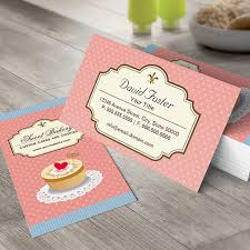 Design Your Own Business Card For Free Customizable Custom Cakes And Cookies Dessert Bakery Shop Business