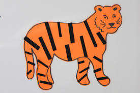 toddler approved sticky tiger craft for kids