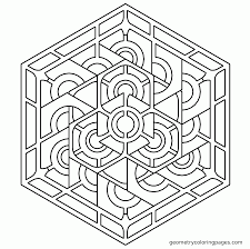 coloring pages geometric