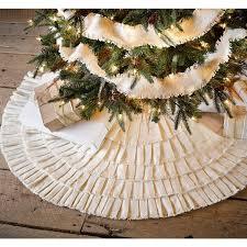 decorating burlap tree skirt for modern living room design