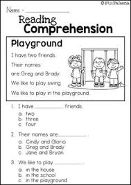 first grade reading fluency and comprehension passages entire
