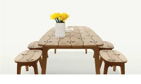 inlaid dining table and chairs wood inlaid dining table set for indoors and outdoors by deesawat