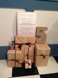 wedding gift by year best 25 5 year anniversary gift ideas on 5 year