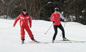 cross country skiing group lesson peisey vallandry