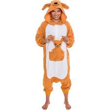 Kangaroo Halloween Costumes Silver Lilly Unisex Plush Animal Cosplay Costume Pajamas