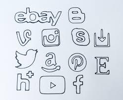 social media planner stencil instagram etsy pinterest personal