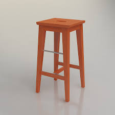 Kitchen Stools Ikea by 3d Ikea Bosse Bar Stool High Quality 3d Models
