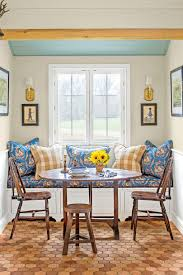 eat in kitchen design ideas southern living blue and yellow kitchen dining nook