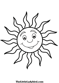 free sun coloring page thelittleladybird com