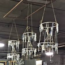 make a deconstructed shabby chandelier hometalk