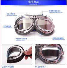 colorful lenses classic scooter motocross motorcycle vintage steampunk goggles glasses welding motocross