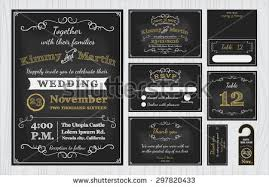 chalkboard wedding program template wedding invitation template stock images royalty free images