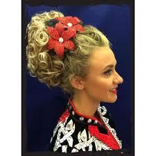 hairstyles for an irish dancing feis irish dance caitlyn bun wig the irish dance shop