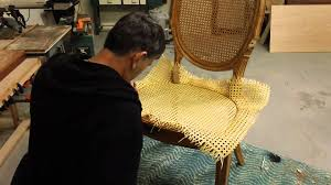 how to re cane a chair youtube