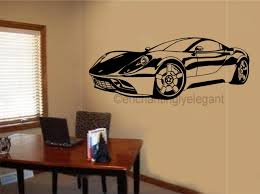 Garage Office by Sports Car Race Car Vinyl Decal Wall Sticker Garage Office Teen