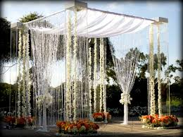 wedding arches los angeles acrylic lucite plexiglass wedding canopy chuppah rentals miami