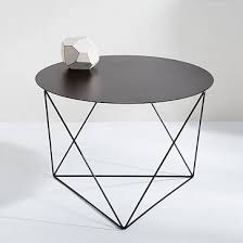 Black Side Table Eric Trine Octahedron Side Table West Elm