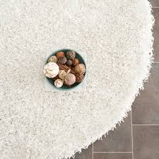 6 X 6 Round Area Rugs by Safavieh Hand Tufted Silken Off White Shag Area Rugs Sg531 1111