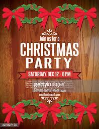 christmas party invitation template christmas party invitation template vector getty images