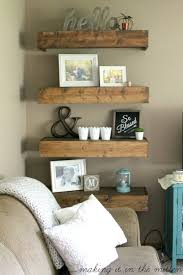 Diy Restoration Hardware Reclaimed Wood Shelf by Best 25 Wooden Shelves Ideas On Pinterest Shelves Corner