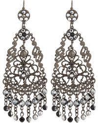 Gunmetal Chandelier Earrings Shop Women U0027s Jose U0026 Maria Barrera Earrings From 108 Lyst Page 3