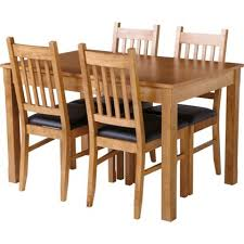 Oak Extending Dining Table And 4 Chairs Hygena Cucina Extending Dining Table And 4 Chairs Oak New