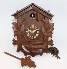 Cuckoo Clock Germany Home Design Vintage West Germany Black Forest Carved Wood Bird 8